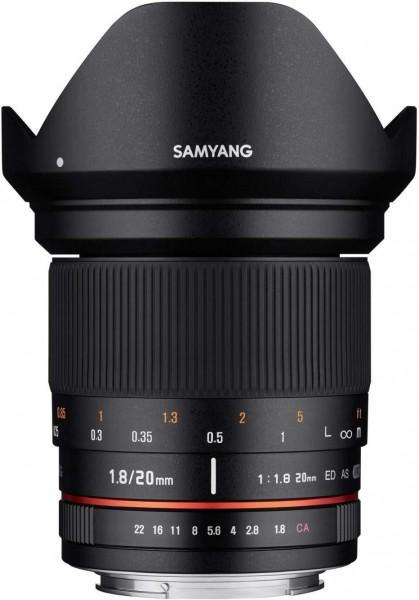 Samyang 20mm F1.8 ED AS UMC Lens for Canon M Mount