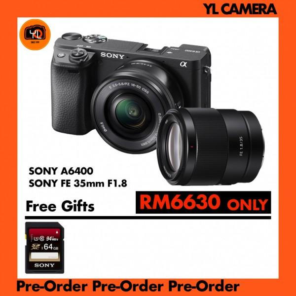 (Pre-Order) Sony A6400 Kit (16-50mm) W/ FE 35mm F1.8