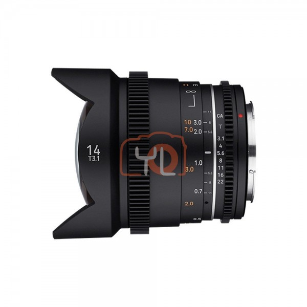 Samyang 14mm T3.1 MK2 Cine Lens