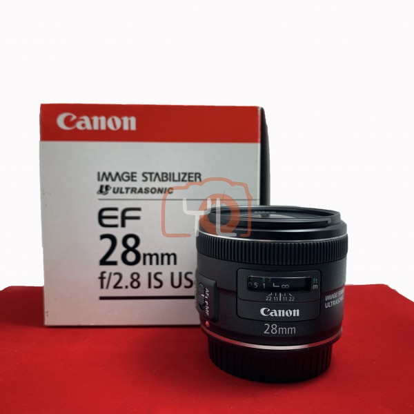 [USED-PJ33] Canon 28mm F2.8 IS USM EF, 95% Like New Condition (S/N:9010000702)