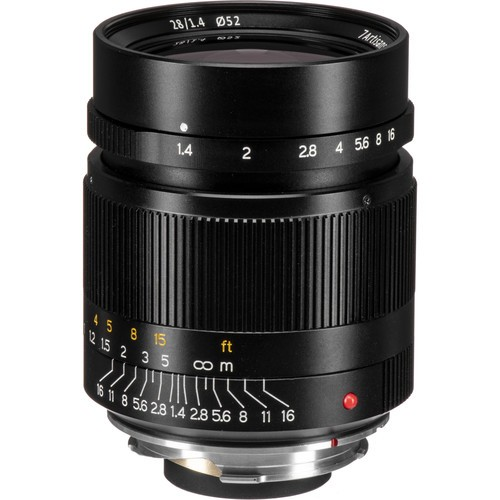 7artisans 28mm F1.4 For Leica M (Black)