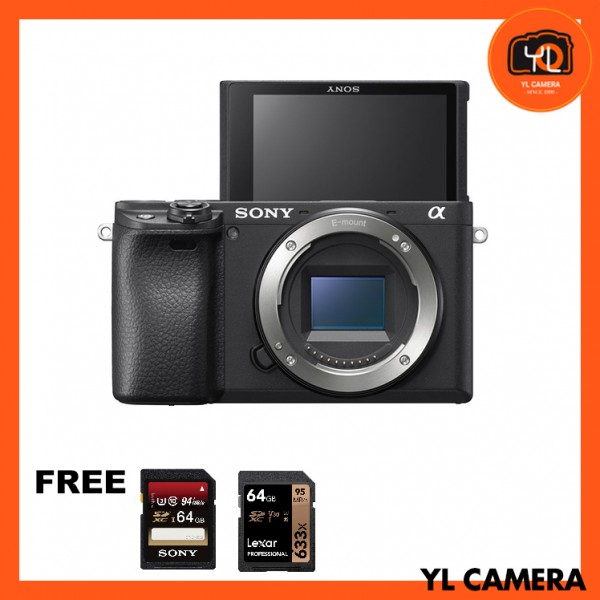 Sony a6400 (Black) [Free Sony 64GB SD Card + Lexar 64GB SD Card]