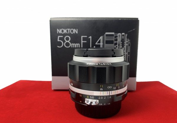 [USED-PJ33] Voigtlander 58MM F1.4 SL II S Nokton (Sliver) (Nikon), 98% Like New Condition (S/N:18730684)