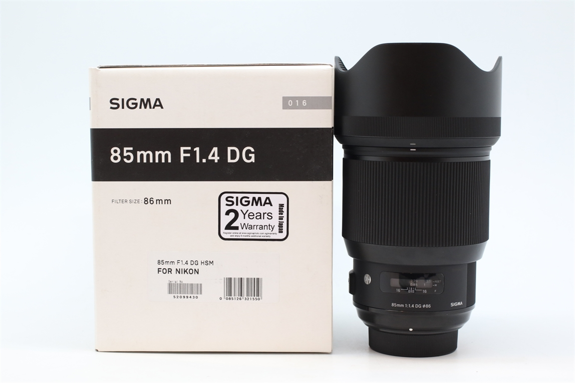 [USED-PUDU] SIGMA 85MM F1.4 DG ART FOR NIKON 95%LIKE NEW CONDITION   SN:52099430