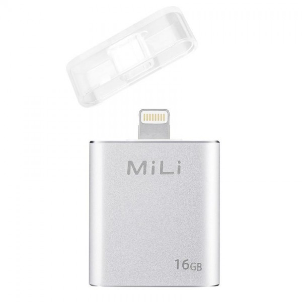 MiLi iData 16GB Flash Drive (SILVER) for Apple Lightning Devices