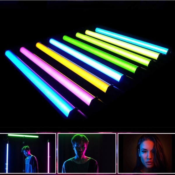 (Ready Stock) Nanguang Nanlite PavoTube 15C 2' RGBW LED Tube with Internal Battery 4 Light Kit