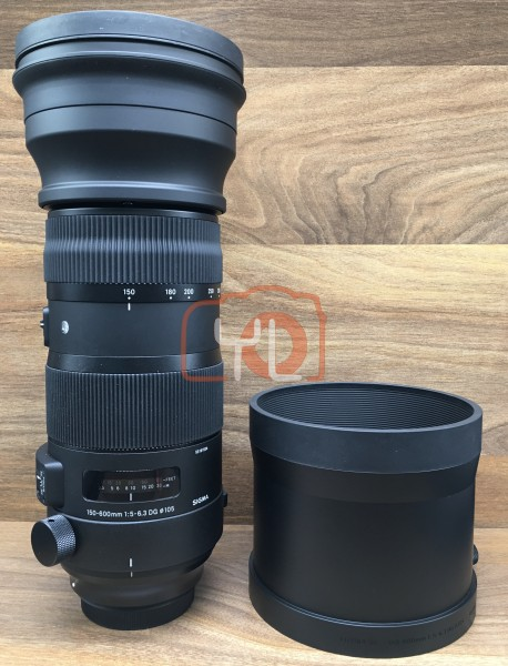 [USED @ YL LOW YAT]-Sigma 150-600mm F5-6.3 DG OS HSM Sports For Canon,98% Condition Like New,S/N:53191534