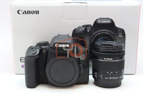 [USED-PUDU] Canon EOS 850D + EF-S 18-55mm IS STM 99%LIKE NEW CONDITION SN:158032000384