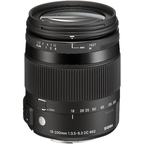 Sigma 18-200mm F3.5-6.3 DC Macro OS HSM Contemporary Lens (Sony)