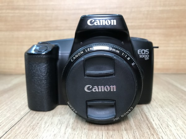 [USED @ YL LOW YAT]-Canon EOS 1000 QD Film Camera + Canon EF 50mm F1.8 II Lens,90% Condition Like New,S/N:1110592
