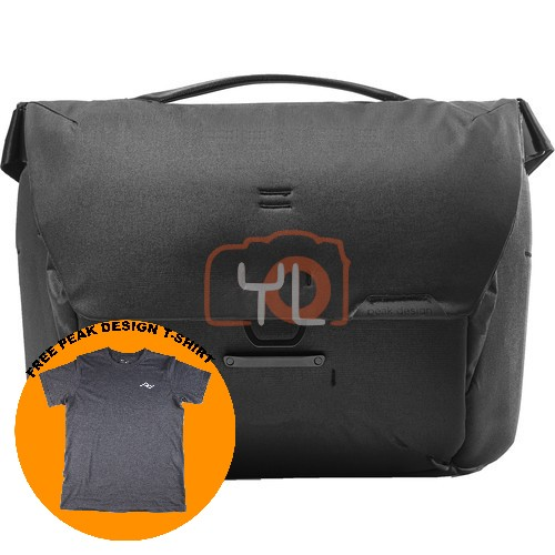 Peak Design Everyday Messenger 13L_Black V2 (Free Peak Design T-Shirt)