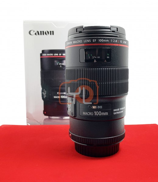 [USED-PJ33] Canon 100mm F2.8 L Macro IS USM EF, 95% Like New Condition (S/N:6477623)