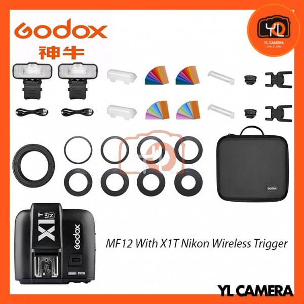 Godox MF12 Macro Flash 2-Light Kit With X1T-N Nikon Wireless Trigger
