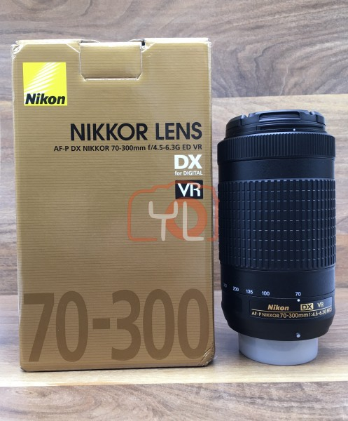[USED @ YL LOW YAT]-Nikon AF-P 70-300mm F4.5-6.3G ED VR DX Lens,98% Condition Like New,S/N:20360758