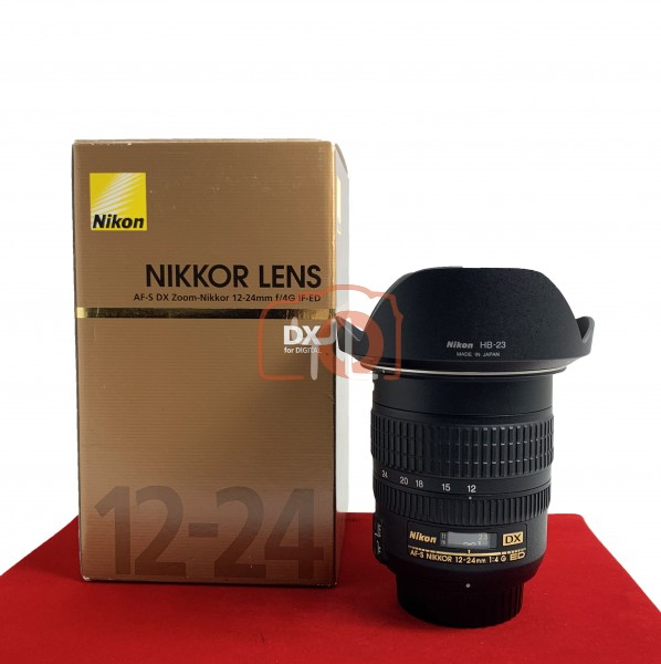 [USED-PJ33] Nikon 12-24MM F4 G DX AFS, 90% Like New Condition (S/N:381150)