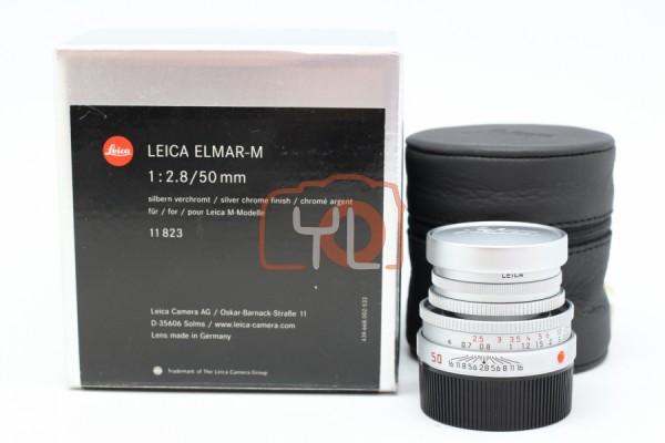 [USED-PUDU] Leica 50MM F2.8 Elmar-M Collapsible (Sliver) 99%LIKE NEW CONDITION SN:03781859