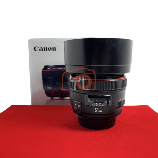 [USED-PJ33] Canon 50MM F1.2 L EF USM, 90% Like New Condition (S/N:6918356)