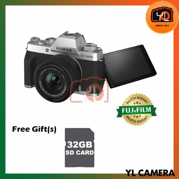 Fujifilm XT200 + XC 15-45mm f/3.5-5.6 OIS PZ (Silver) [Free 32GB SD Card]