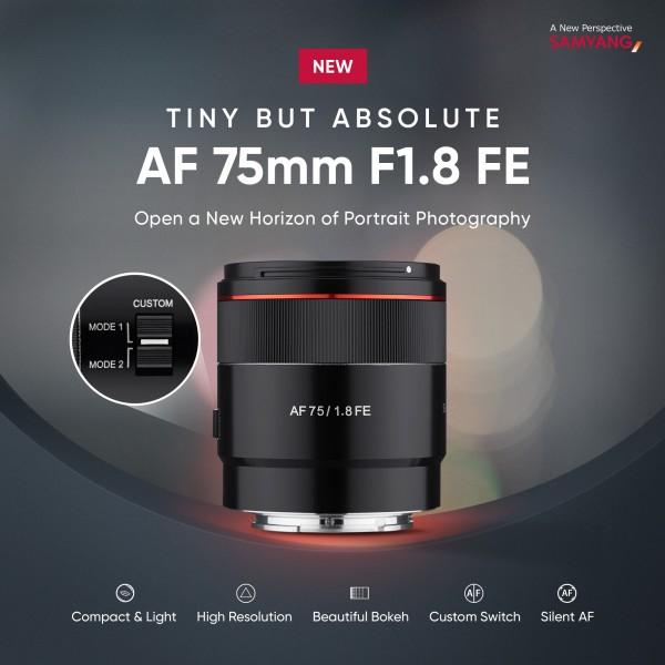 Samyang AF 75mm F1.8 FE