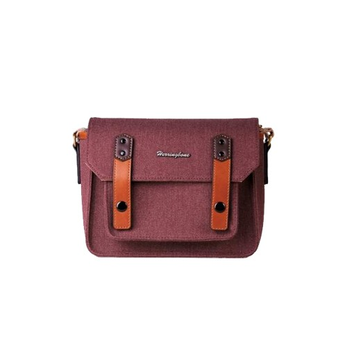 (SPECIAL DEAL) Herringbone Papas Pocket V3 Mini Camera Bag (Wine)