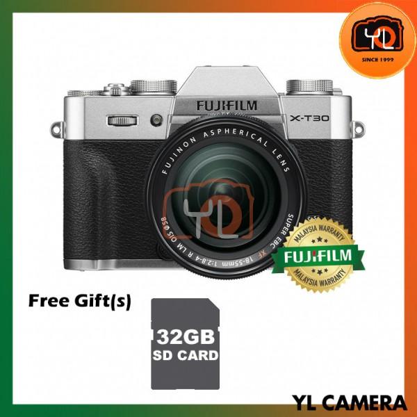 Fujifilm X-T30 (Silver) + XF 18-55mm f/2.8-4R LM OIS [Free 32GB SD Card]