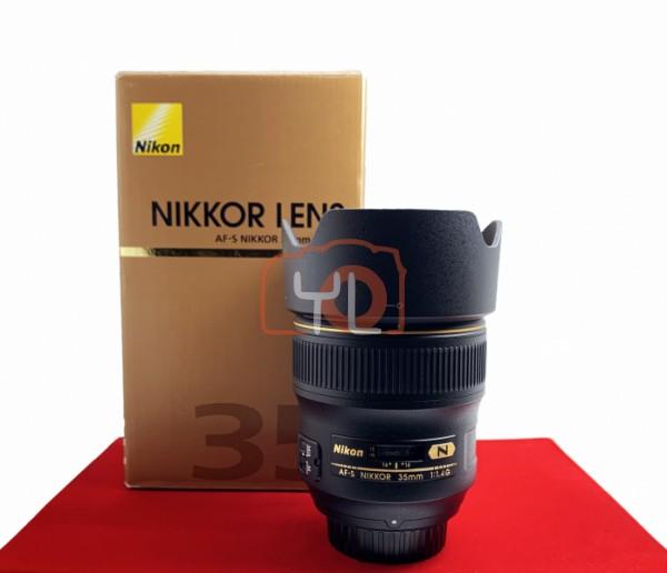 [USED-PJ33] Nikon 35mm F1.4 G AFS, 95% Like New Condition (S/N:234226)