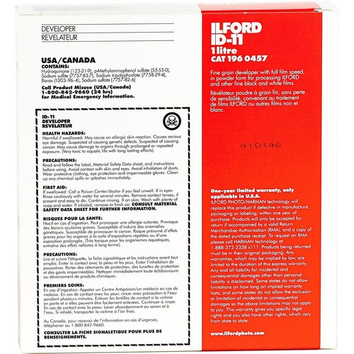 Ilford ID-11 Film Developer (Powder) for Black & White Film - Makes 1 Liter