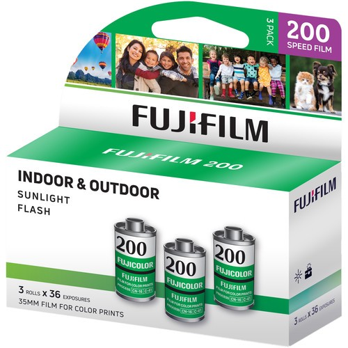 Fujifilm Fujicolor 200 Color Negative Filme (35mm, 36 Exposure) Pack of 3