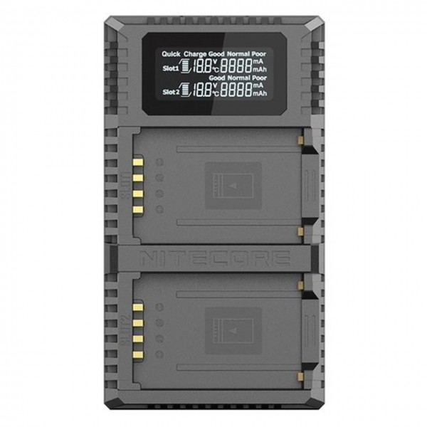 NITECORE UHX1 PRO Dual Slot USB Digital Charger For Hasselblad X System
