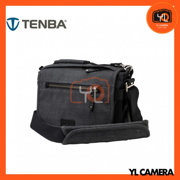 Tenba Cooper 8 Messenger Bag with Leather Accents (Gray)