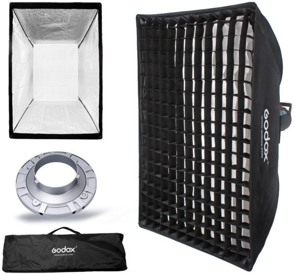 Godox SB-FW90x90CM Softbox with Bowens Speed Ring and Grid