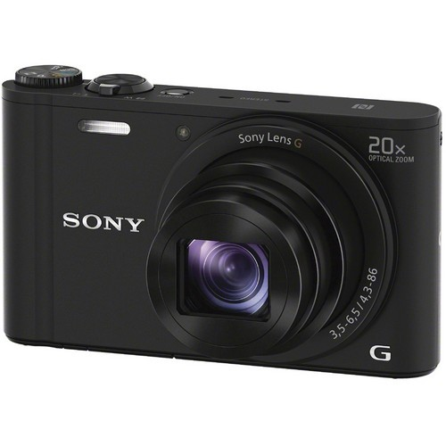 Sony DSC-WX350 Digital Camera - Black [Free 16GB SD Card + Camera Case]