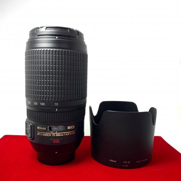 [USED-PJ33] Nikon 70-300MM F4.5-5.6G AFS VR ED Lens,95% Like New Condition,(S/N:2084144)