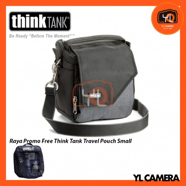 Think Tank Photo Mirrorless Mover 10 Camera Bag (Pewter) Free Think Tank Photo Travel Pouch - Small