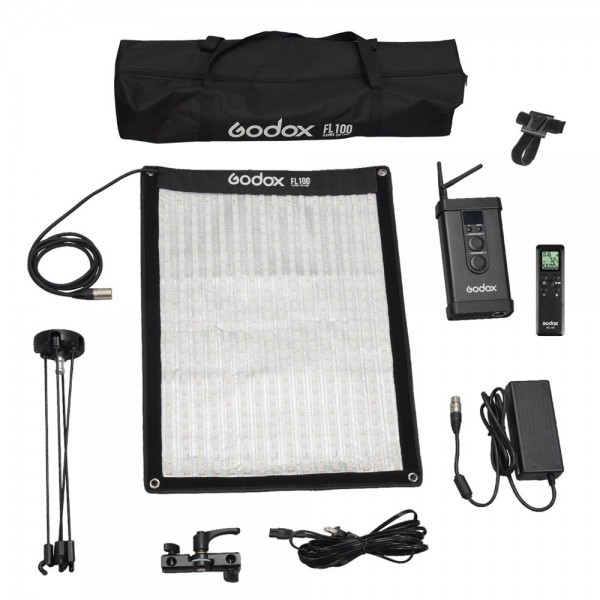 Godox FL100 Flexible LED Video Light 3300-5600K With FLSF4060 Softbox Set