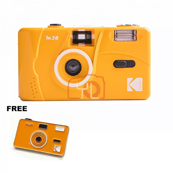 Kodak M38 Film Camera - Yellow W/ Pin Tag