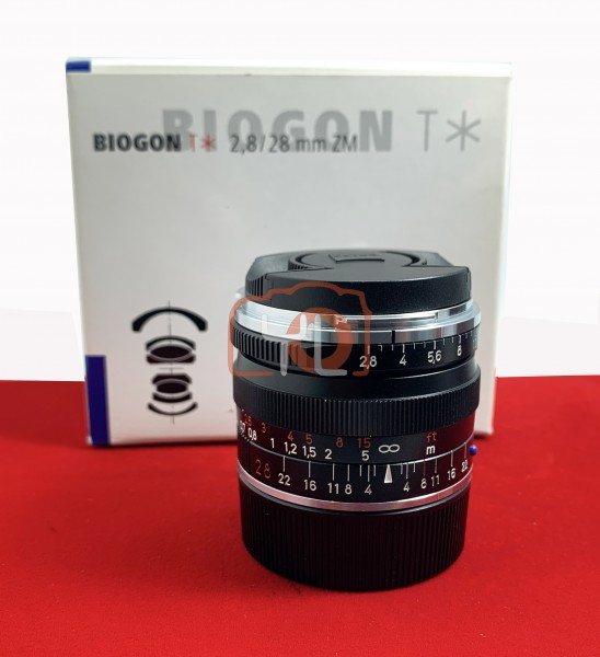 [USED-PJ33] Zeiss 28mm F2.8 Biogon T* ZM  (Leica M Mount), 90% Like New Condition (S/N:15863701)