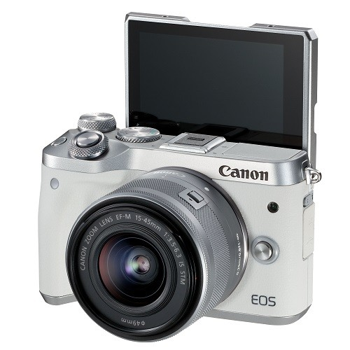 (Special Offer) Canon EOS-M6 + EF-M 15-45mm F/3.5-6.3 IS STM (White) [Free 16GB SD Card + Camera Bag + Screen Protector]