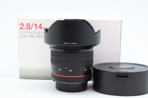 [USED-PUDU] SAMYANG 14MM F2.8 ED AS IF UMC LENS FOR NIKON 95%LIKE NEW CONDITION SN:F413K0276