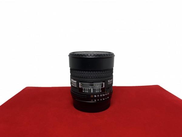 [USED-PJ33] Nikon 16MM F2.8 AFD Fisheye, 90% Like New Condition (S/N:605726)