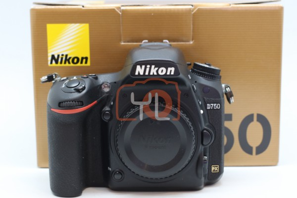 [USED-PUDU] NIKON D750 CAMERA BODY 90%LIKE NEW CONDITION SN:8519632 (Shutter Counter:25K)