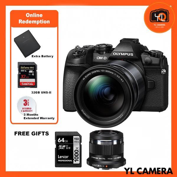 (Promotion) Olympus OM-D E-M1 Mark II + M. Zuiko 12-200mm F3.5-6.3 - Black  (FREE Lexar 64GB 150MB SD Card) [Online Redemption Extra Battery + 32GB SD Card UHS-II]