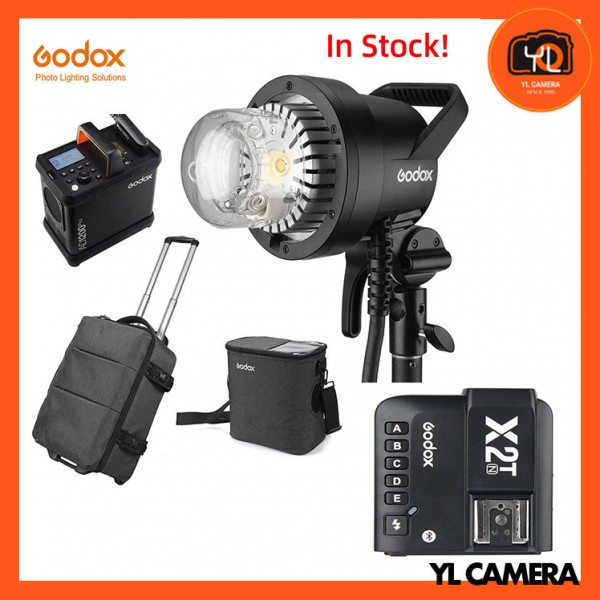 Godox AD1200Pro Battery Powered Flash System With Godox X2 2.4 GHz TTL Wireless Flash Trigger for Nikon Combo Set