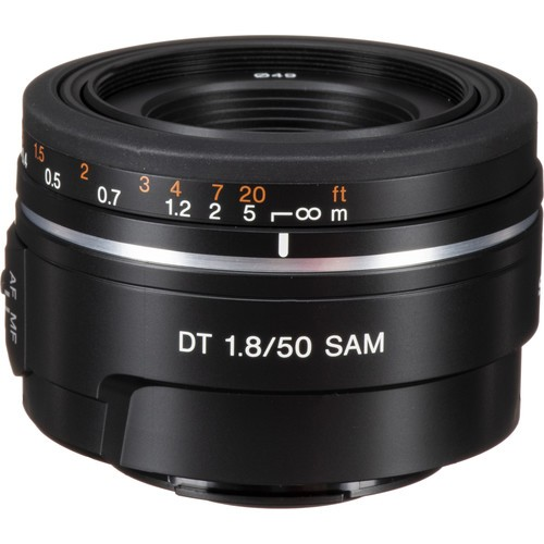 (Special Offer) Sony 50mm F1.8 DT SAM Lens for Sony A Mount (SAL50F18)