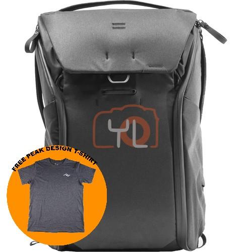 Peak Design Everyday Backpack 30L_Black V2 (Free Peak Design T-Shirt)