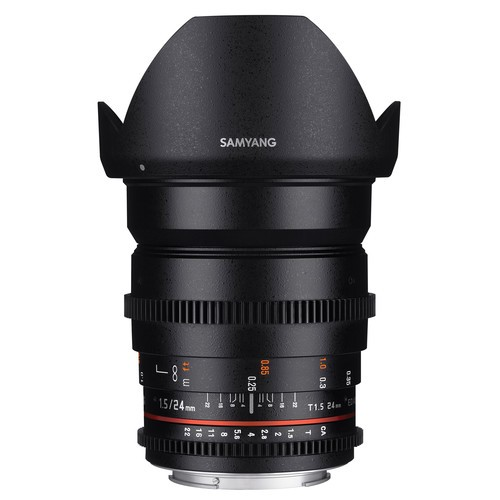 Samyang 24mm T1.5 VDSLRII Cine Lens for Fujifilm X- Mount
