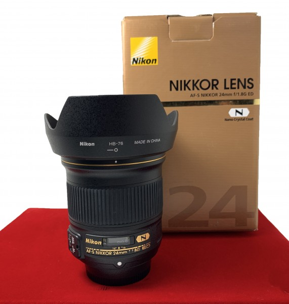 [USED-PJ33] Nikon 24MM F1.8 AFS, 90% Like New Condition (S/N:209702)