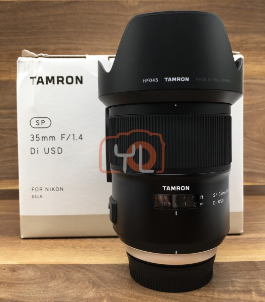[USED @ YL LOW YAT]-Tamron SP 35mm F1.4 Di USD Lens For Nikon,98% Condition Like New,S/N:00001287b