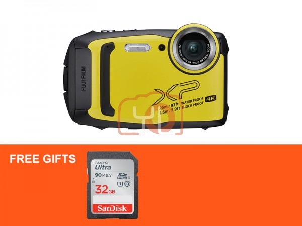 Fujifilm FinePix XP140 Digital Camera - Yellow (Free 32GB SD Card)