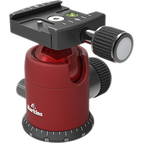 Markins Q-Ball Q3i Emille with Quick Turn Knob Quick Shoe (RED)